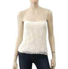 6799d28ef0 RALPH LAUREN BLACK LABEL Embellished Ivory Silk Camisole Top 8