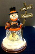 Cincinnati Bengals Collectible 1st Edition Snowman Snow Globe