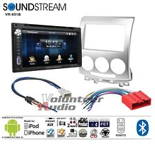 Soundstream VR-651B Double Din DVD Bluetooth Radio Install Kit Harness