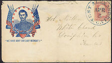 1862 c. McLellan We Have Beat Our Last Retreat US Civil War Patriotic Cover.