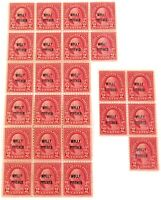 ".25 x 1928 SCOTTS #646 2 CENT ""MOLLY PITCHER"" OVERPRINT MINT MNH U.S. STAMPS."