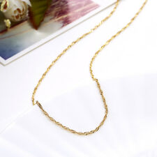 18K Gold Plated Singapore Sparkle Rope Twist Chain Necklace