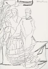 Christopher Kochs, Lithografie signiert und farbig überarbeitet