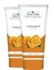 herbs and more vitamin therapy professional facial massage gel, orange 100g x 2