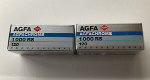 AGFA AGFACHROME 1000 RS 120 format camera film 2 Rolls from 1996 lomography
