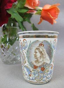 Superb Queen Victoria Diamond Jubilee 1837 - 1897 Enamelled / Enamel Cup Beaker.