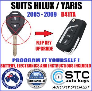 SUITS TOYOTA HILUX YARIS 2005 2006 2007 2008 2009 COMPLETE REMOTE CAR FLIP KEY