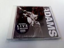 "BRYAN ADAMS ""LIVE! LIVE! LIVE!"" CD 17 TRACKS RECORDED LIVE IN BELGIUM 1988"