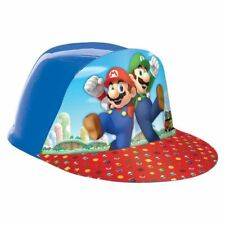 SUPER MARIO BROS & Friends Children's Party Cappelli in plastica formata a vuoto