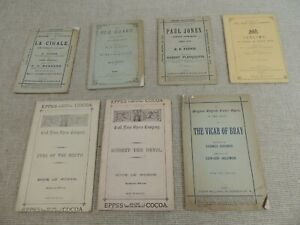 7 x 1880s & 1890s Opera booklets / Programmes   Thames Hospice