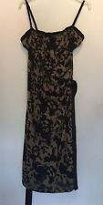 SIZE 14 MONSOON BROWN/BLACK MAXI DRESS PARTY/TOWIE/FESTIVAL/CLUBBING RRP £70