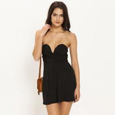 Women's Strap or Strapless Black Beach Summer Party Dress Size 10 Aus