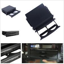 Durable Black Car SUV Truck Double Din Radio Pocket Drink-Cup Holder Storage Box