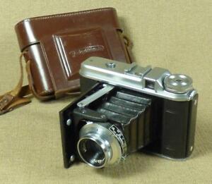 REPAIR or SPARES - VOIGTLANDER PERKEO I, Folding Camera/ Vaskar 4.5 Lens + Case