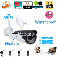 Outdoor Wireless WiFi HD 720P IP Network Camera Security CCTV IR Night Vision