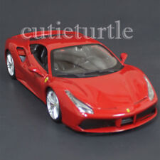 Bburago Ferrari Race & Play 488 GTB 1:24 Diecast Model Car 26513 Red