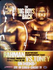 HASIM RAHMAN vs JAMES TONEY 8X10 PHOTO BOXING POSTER PICTURE