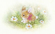 'Bunny' Greeting Card (Handcrafted Design with Free Options)
