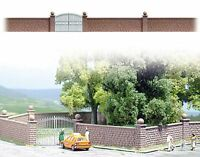 OO/HO Building accessories - Stone wall & posts +iron gate -Busch 6014 - B3