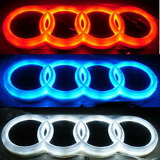 4D LED Car Tail Logo For Audi Q3 Q5 A1 A3 TT Auto Badge Light Rear Emblems Red