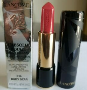 Lancome- L'Absolu Rouge Ruby Pink Red Cream Lipstick  - #314 Ruby Star