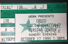 Creed 10/17/99 Firstar Center Cincinnat, Oh Ticket Stub