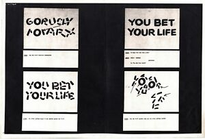 You Bet Your Life Opening Credits Storyboard Model Sheet 1955 Groucho Marx