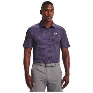 2021 Under Armour Men Performance Printed Polo Shirt Lightweight Breathable Golf