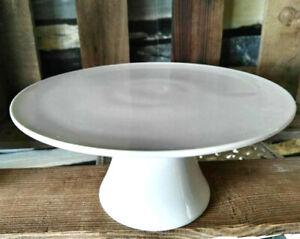 Porzellan Tortenplatte Fuß Weiß Tortenständer 18cm Tortenaufleger Kuchenteller