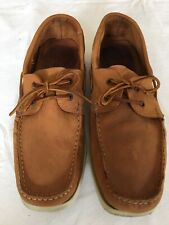 Next Men Tan Genuine Leather Loafers Size 11.5 (D15).