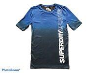 SUPERDRY SPORT MEN'S T SHIRT ATHLETIC FIT BLUE SIZE M