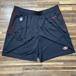 Nike San Francisco 49ers Shorts Mens XL NFL On Field Black Standard Fit New
