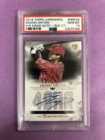2018 Topps Luminaries Shohei Ohtani RC Black H/R Kings Auto 1/1 PSA 10 GEM MINT