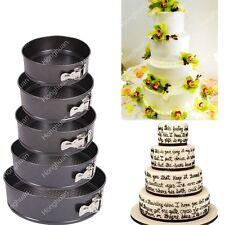 5PC/Set Non Stick Springform Cake Pan Baking Bake Round Tray Tins Wedding Party