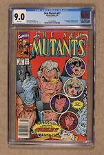 New Mutants Newsstand Mark Jewelers Insert #87 CGC 9.0 1st full app. Cable