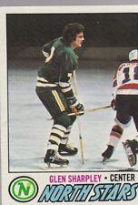 1977-78 TOPPS HOCKEY GLEN SHARPLEY #158 NORTH STARS EXMT *54667