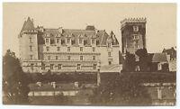 Castello Di Pau Francia Vintage Albumina Ca 1875 Piccolo Formato 5,5x9 CM