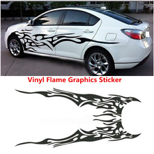 2x Car Body Side Decal Vinyl Flame Graphics Racing Stripes Sticker Accessories