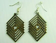 NEW Star  wooden earrings Western red alder Made in Pacific Northwest