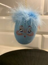 "2002 Annalee 3"" Blue Egg Ornament"