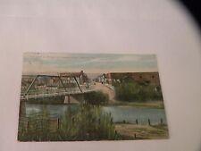 ANTIQUE POSTCARD BEAR CREEK at Bridge Seventh St. Medford, Oregon OR ORE 1909