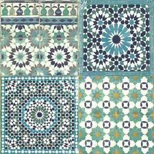 Grandeco Botanical Moroccan Tile Pattern Wallpaper Retro Floral Textured Motif