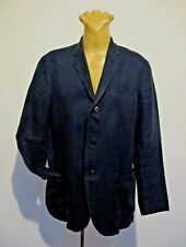 JACKET Navy LINEN Unlined SPORTS COAT Single breast 3 button BLAZER Vintage Sz S