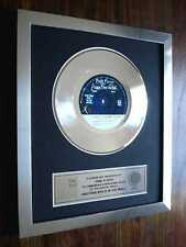 "PINK FLOYD ANOTHER BRICK IN THE WALL PLATINUM DISC 7"" SINGLE RECORD DISC AWARD"