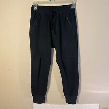 Kith Classics Black washed Jogger Sweatpants sz Large NYC Ronnie Fieg 3M RF EUC