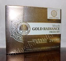 Khadi Natural 24 Carat Pure Gold Radiance With Ph Balance Mini Facial Kit -75gm