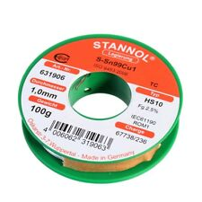 Lötzinn 100 Gramm ø1mm S-Sn99Cu1/TC Ecoloy Lötdraht bleifrei Hersteller: Stannol