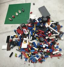 ✨ 2 KG Of Mixed LEGO Pieces + Large 32 Pin Base Board/Plate + 10 Minifigs! ✨