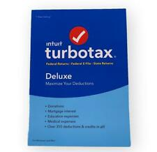 Turbotax Intuit DELUXE 2018 NEW Federal + State E-File, Windows/Mac