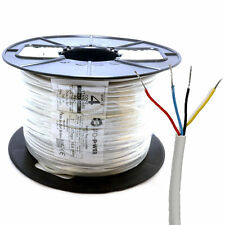 100m Alarm Security & Signal Cable 4 Core COPPER Reel White [007273]